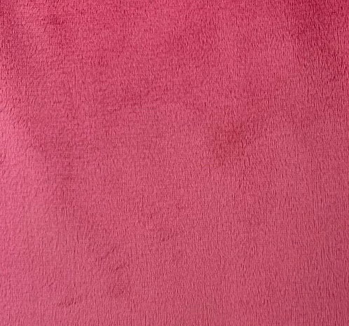 Shocking Pink (HF) Minky Cuddle Solid Fabric