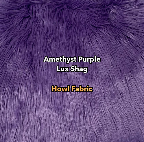 Amethyst Purple Luxury Shag Faux Fur