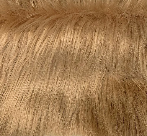 "Golden Tan Short Fox 2"" Faux Fur"