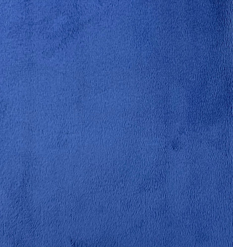 Electric Blue Minky Cuddle Solid Fabric