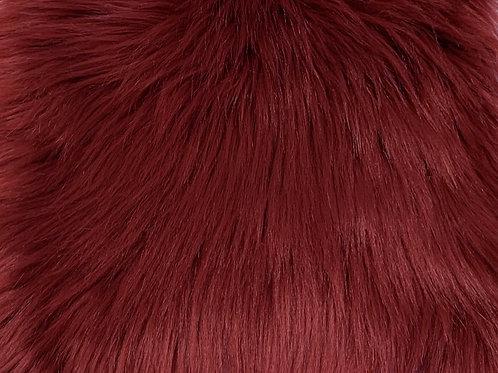 Dark Red Luxury Shag Faux Fur