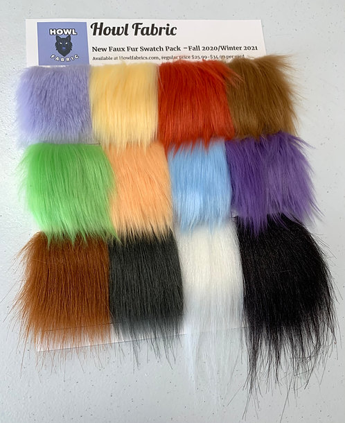 New Release Faux Fur Swatch Pack