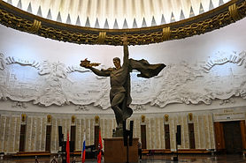 The Monument to World War Two heroes in the Hall of Glory, at Victory Park or Poklonnaya Hill