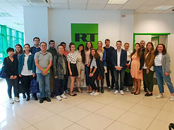 MGIMO Summer Students in the Headquarters of RT, formerly Russia Today