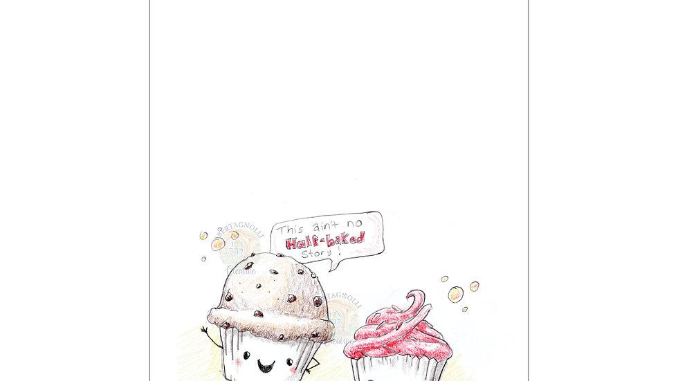 Cupcake Notecard Digital download