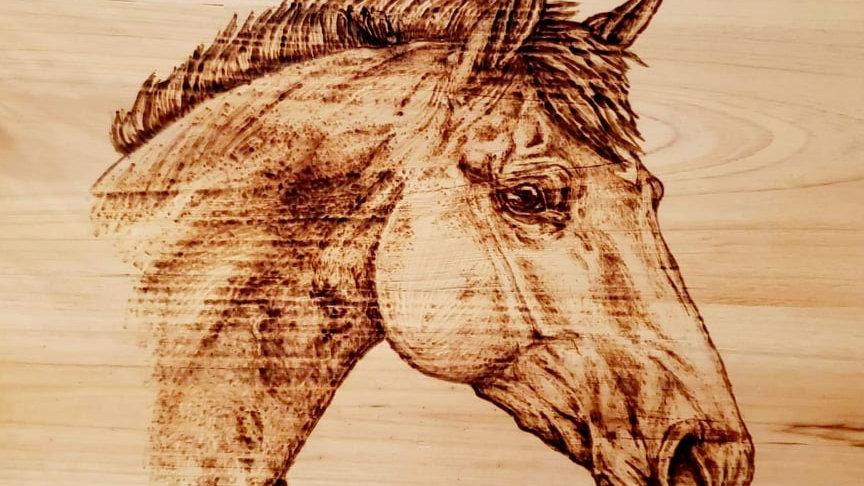 Square Horse Wood-burning
