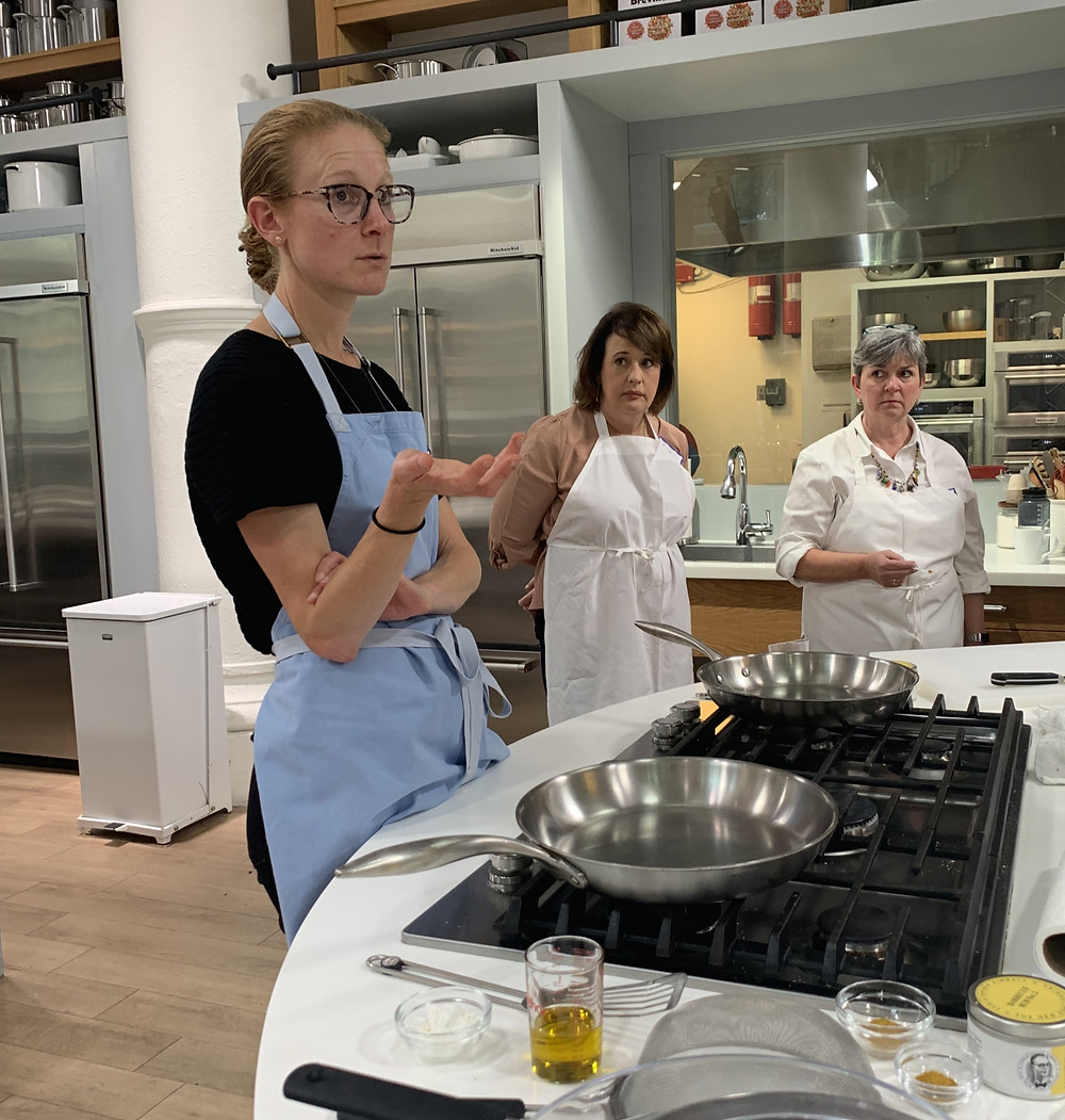Milk Street master class with instructory explaining a new dish.