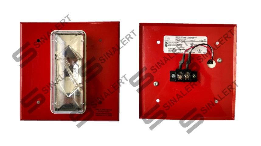 405-5A-T Strobe Sincronizado Edwards  Vermelho 24v