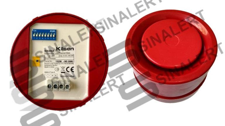 SK08A - Sirene Endereçável Vermelha - Kilsen