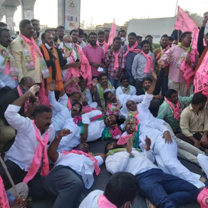 "TRS MLA Gandhi slaps, abuse people opposing ""Bharat Bandh"" in Hyd"
