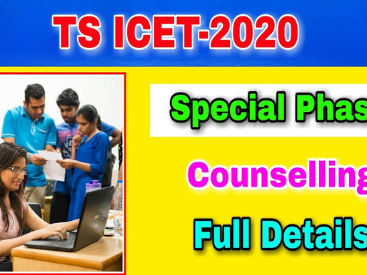 TS ICET 2020 3rd Phase/ Special Round Counselling: MBA/ MCA Seat Allotment Results