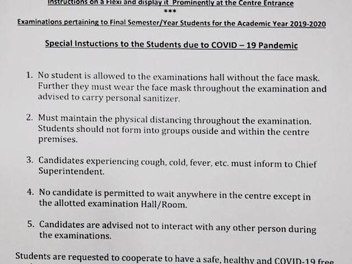 Osmania University UG/PG final exams 2020: Latest Update: Instructions to students