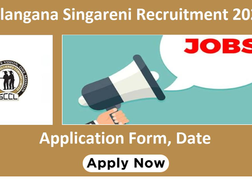 Singareni Recruitment Notification 2021 (SCCL): 372 Posts: Latest Update