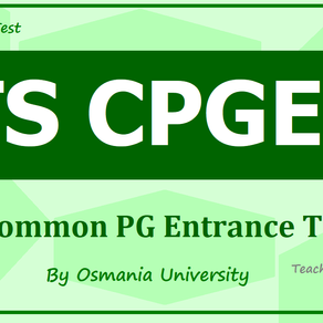 TS CPGET Notification 2021: CPGET: Common PG Entrance Test in Telangana: Latest Update