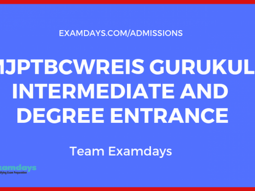 MJPTBCWREI Inter/Degree Admissions 2021: RJCCET, RDCCET: Telangana TS Gurukul Schools/Colleges