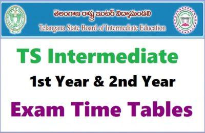 Telangana Inter Public Exams 2021 Schedule: TSBIE TS Inter Exams 2021 Timetable