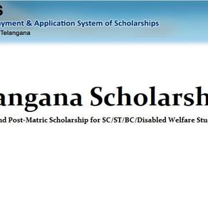 Telangana e-Pass website: Fresh & Renewal scholarships 2020-21: Latest Update