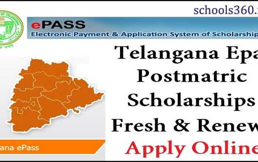 TS e-Pass scholarships for BC,SC,ST,EBC,Minorities,PHC for 2020-21 in Telangana: Fresh,Renewal apply
