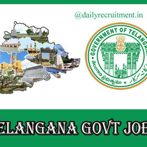 TS Govt Recruitment Notifications 2021: Total 56,979 posts, Department-wise vacancy details