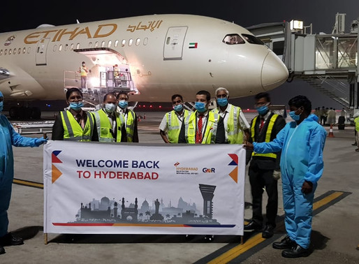 Hyd Intl Airport Resumes its Direct Connection with Qatar; Etihad Reconnects Hyd