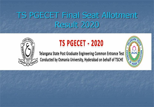 TS PGECET 2020 Counselling: 2nd Phase Seat Allotment Results: Latest Update