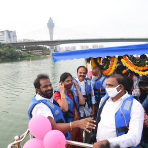 Boating & Floating Restaurant in Durgam Cheruvu Lake, Hyderabad, inaugurated