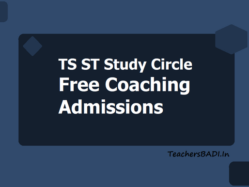 Free Coaching for STs for Police, DSC & Group-II Recruitment Exams 2021: TS Govt Tribal Welfare Dept
