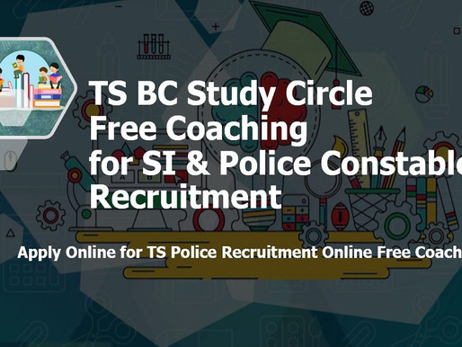 TS BC Study Circle: Free Online Coaching for Police (SI, Constable) Recruitment Exams 2021