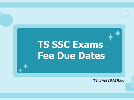 TS SSC Public Exams 2021: Fee Payment Dates