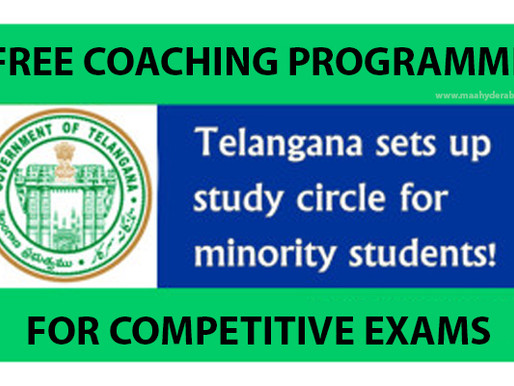 Free Coaching For Minorities by Telangana Govt: Staff Selection Commission Exams 2020