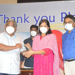 Plasma Angels felicitated: Telangana Plasma Donors Association appreciates their efforts