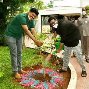 Rebel star Prabhas launches TRS MP Santhosh's 3rd phase of Green India Challenge!