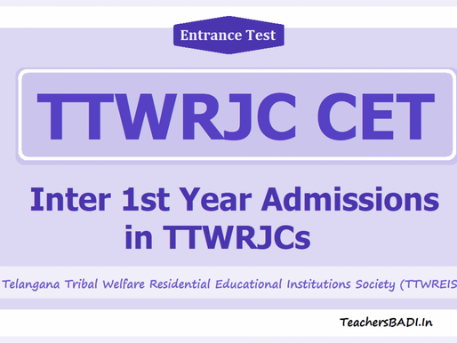 TS Tribal Welfare Gurukul Junior Colleges: Inter Admissions Notification 2021-22