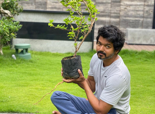 Tamil Super Star Vijay takes up Green India Challenge thrown by Tollywood Super Star Mahesh Babu