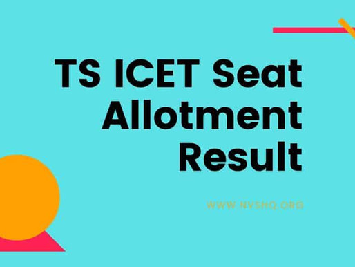 TS ICET 2020 Counselling: Final Phase Seat Allotment Results: Latest Update