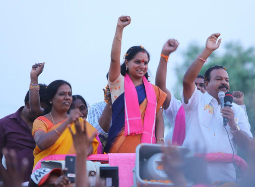 Kavitha bumper win in NZB MLC poll; BJP, Cong lose deposits