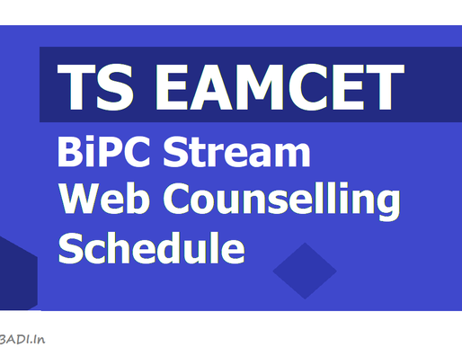 TS Eamcet (BiPC) Counselling 2020: Special Round: Latest Update