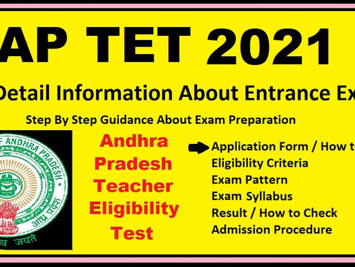 AP TET 2021 in April: Revised Syllabus: Latest Update