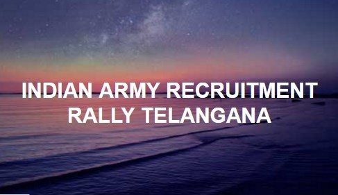 Army Recruitment Rally At Telangana Sports School, Hakimpet From March 5 to 24, 2021