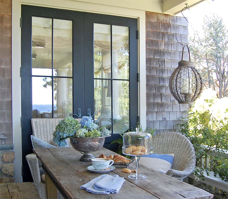 Covered Farmer's Porch, Doors to Guest Room