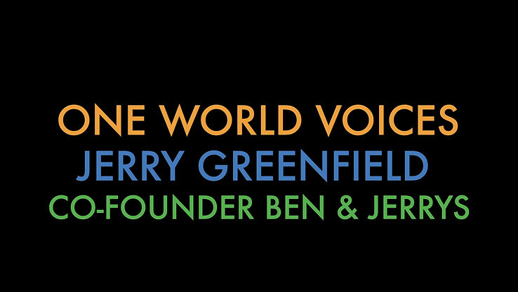 Jerry Greenfield, the co-founder of Ben & Jerry's, talks about making positive social change by coming together and experiencing a shared  vision.