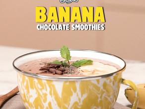 Minuman Banana Chocolate Smoothies