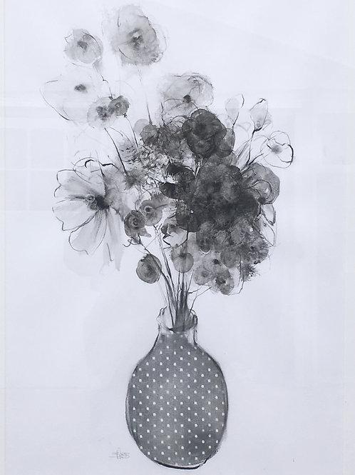 Wild Flowers in Spotty Vase
