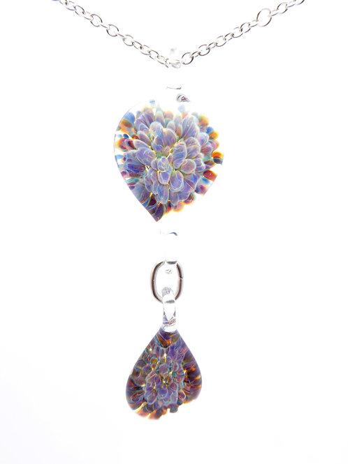 copy of GV3 double tear 30'' glass pendant / pendentif en verre double 30''