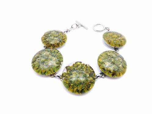 CE10 glass bracelet / bracelet en verre