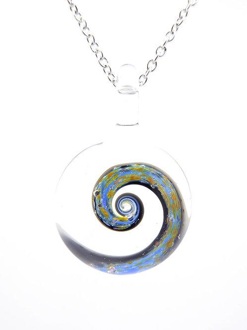 S4 glass pendant / pendentif en verre