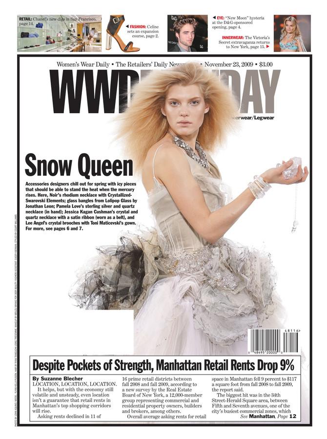 Lolipop glass blowing in the Women's Wear Daily... Plus cover shot !