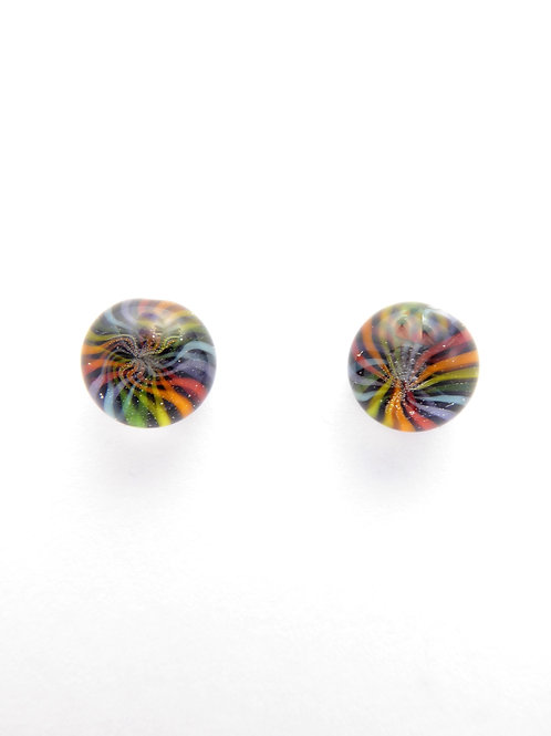 Vc13 glass earrings / boucles d'oreilles en verre