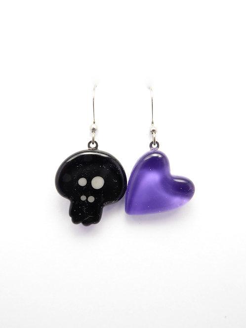 SK12bp glass earrings / boucle d'oreilles en verre