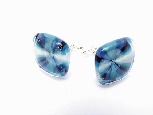 Vaw18 glass cufflinks/boutons de manchettes